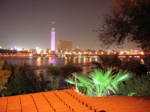 Cairo Tower, or Gezira Tower, on the Nile