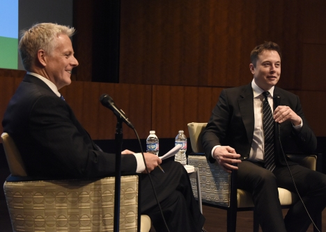 Onstage with Elon Musk, AFCEA Symposium,