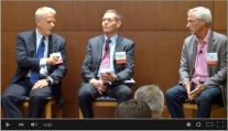 "photo: Lewis Shepherd; Gen. ""Wheels"" Wheeler (Ret.) of DIUx; Russell Stern, CEO Solarflare"