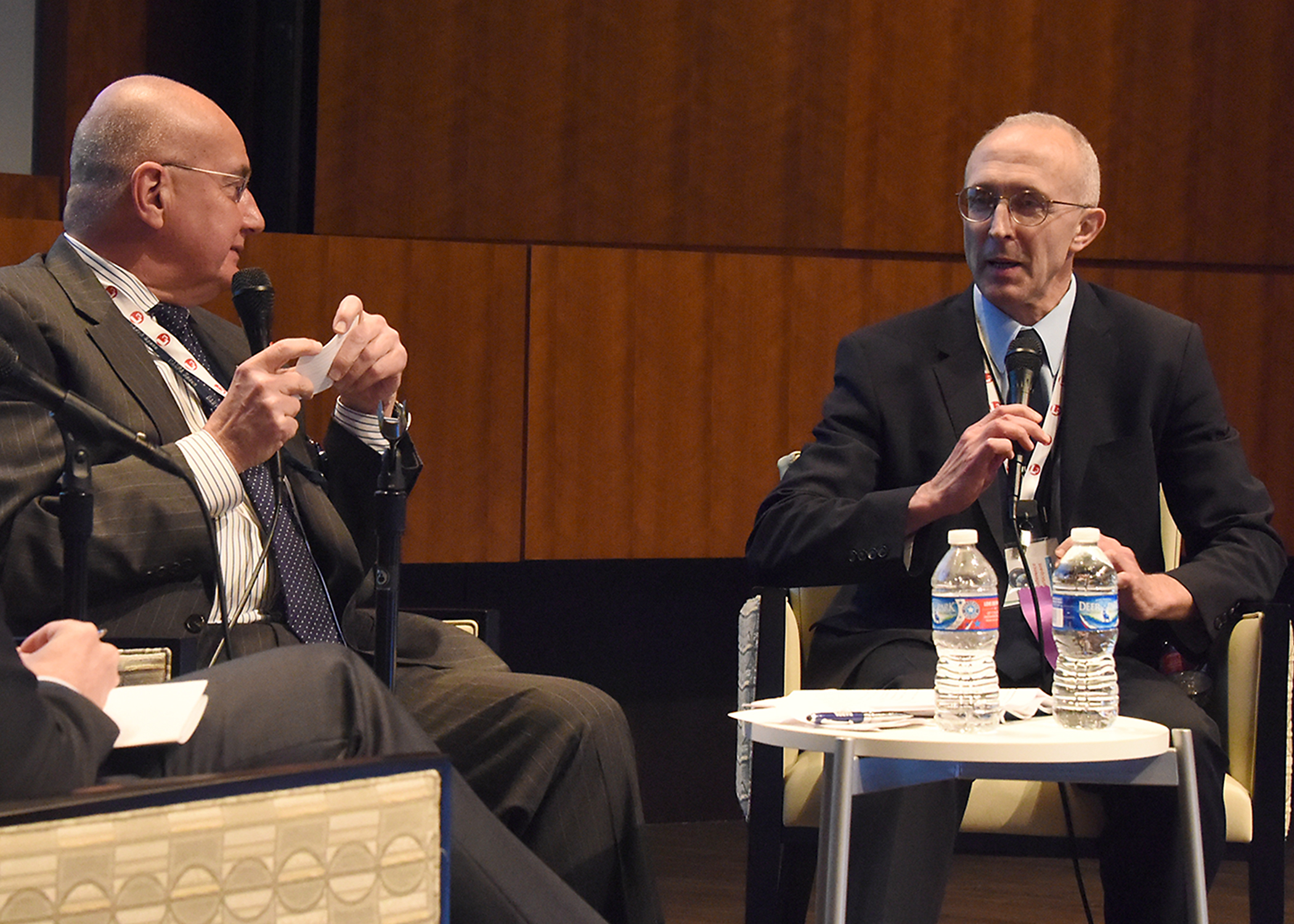 DARPA's Paul Kozemchak, IARPA's Peter Highnam.jpg